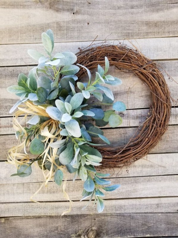 Pretty Summer Wreath Decor Ideas For Front Door 51