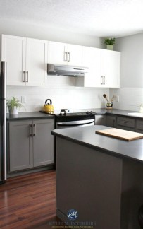 Unique Painted Kitchen Cabinets Design Ideas With Two Tone 10