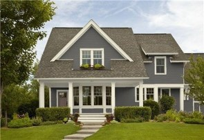 Astonishing Exterior Paint Colors Ideas For House With Brown Roof 30