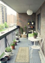 Cool Apartment Balcony Design Ideas For Small Space 22