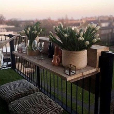 Cool Apartment Balcony Design Ideas For Small Space 33
