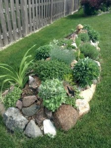 Cozy Rock Garden Landscaping Ideas For Make Your Yard Beautiful 12