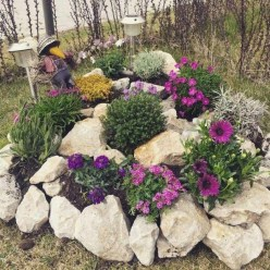 Cozy Rock Garden Landscaping Ideas For Make Your Yard Beautiful 18