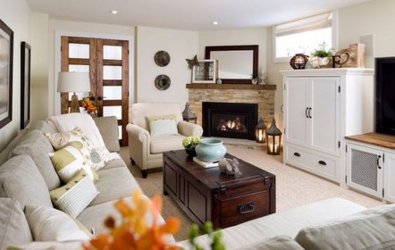 Superb Warm Family Room Design Ideas For This Winter 06