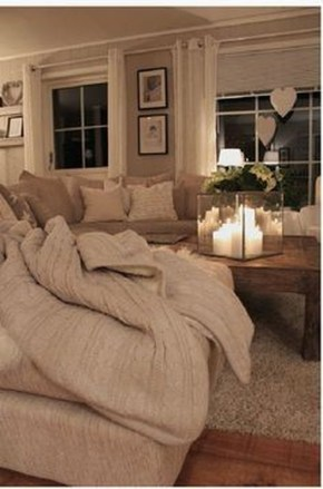 Superb Warm Family Room Design Ideas For This Winter 20