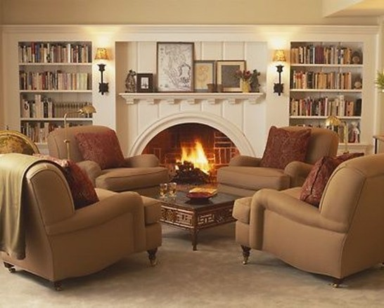 Superb Warm Family Room Design Ideas For This Winter 21