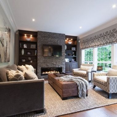 Superb Warm Family Room Design Ideas For This Winter 24