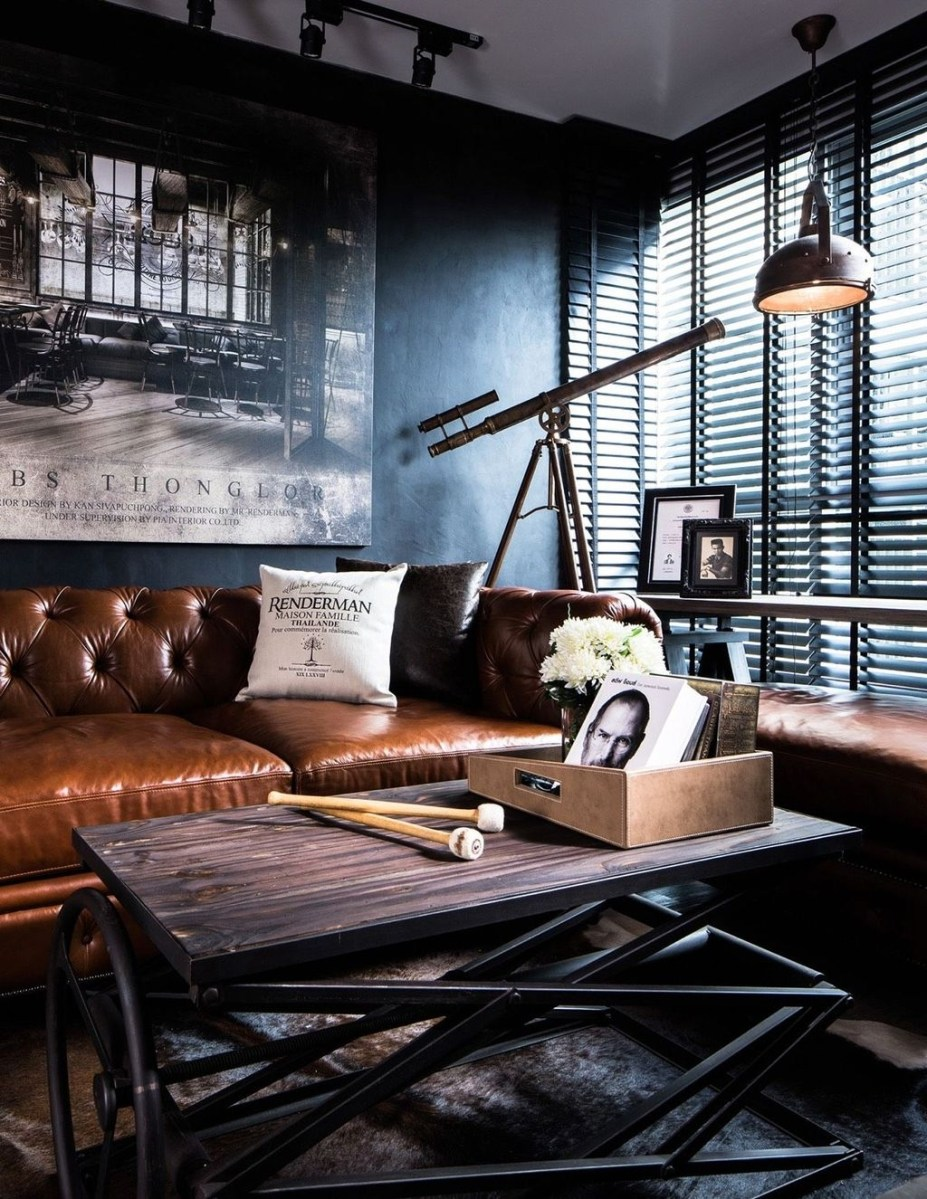 Cozy Masculine Living Room Design Ideas To Try 02