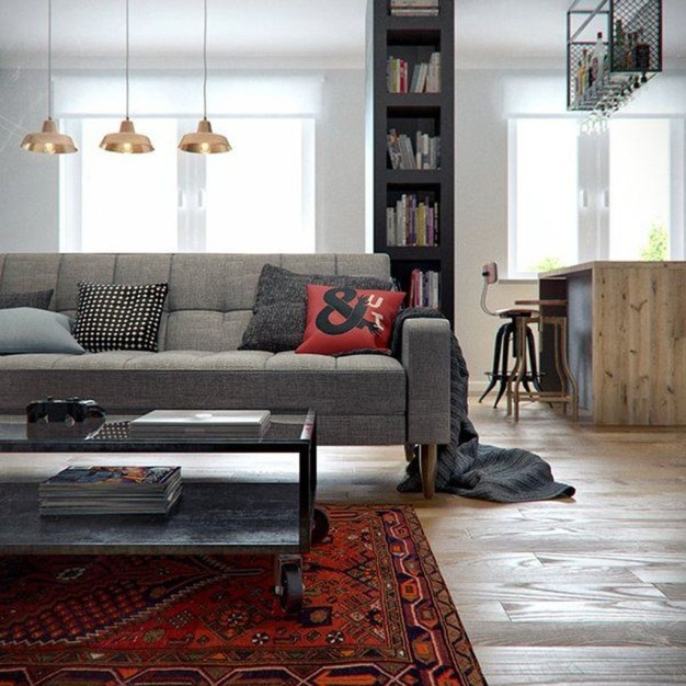 Cozy Masculine Living Room Design Ideas To Try 31