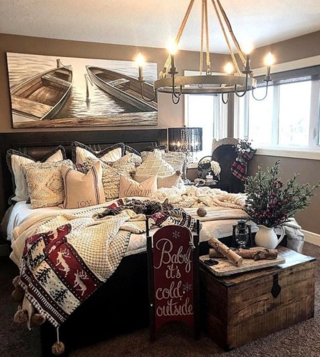 Enchanting Lake House Bedroom Design And Decor Ideas 17