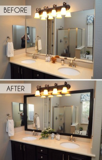 Newest Bathroom Mirror Decor Ideas To Try 46