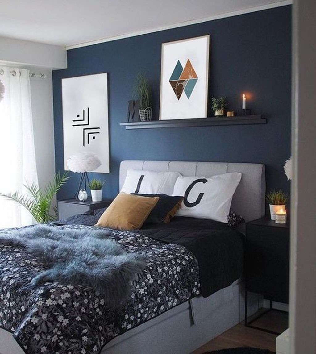 Top Blue Master Bedroom Design Ideas That Looks Great 19