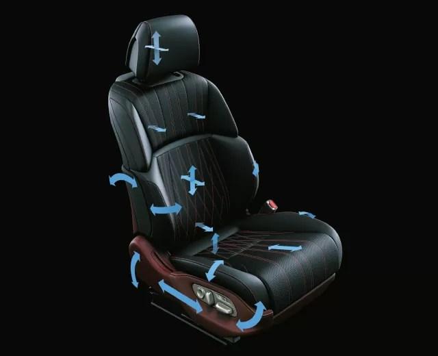 新型レクサスLS28Way調整式フロントパワーシート