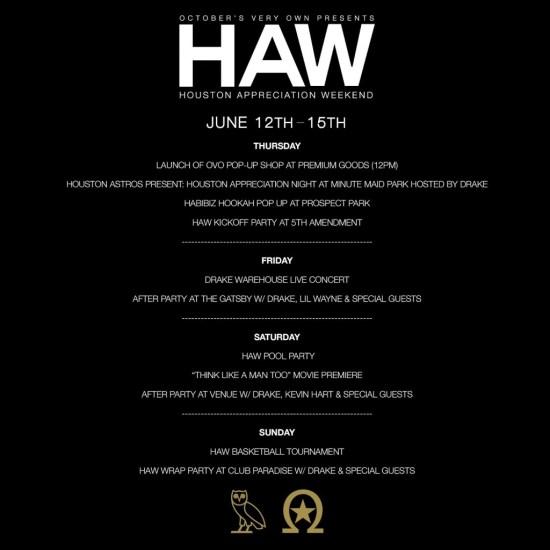 HAW Schedule