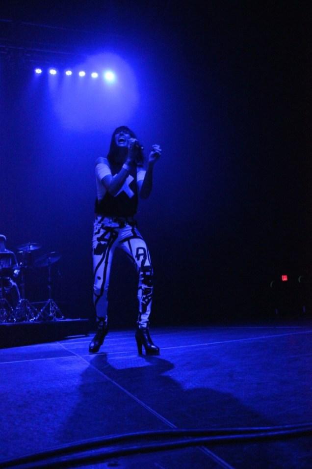 "Sarah Barthel performing ""Fall in Love"" (Photo by Rupal Mehta)"
