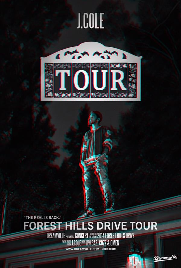 J. Cole Announces 2014 Forest Hills Drive Tour