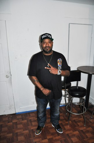 Bun B backstage at Fitzgerald's