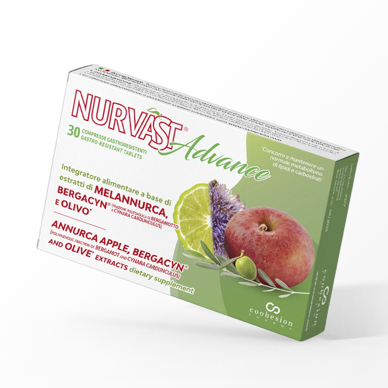 Nurvast Advance - Supplement based on Annurca apple extract, Bergacyn® and Olive