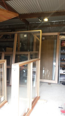 Varnishing windows, round 1: 3 big ones at the back remaining