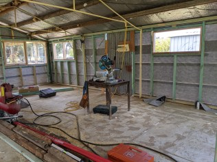Inside view of lounge and kitchen area