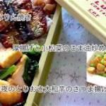 【お弁当作り】☆おかず☆さんまのみりん焼き♪厚揚げと小松菜のごま油炒め♪夕食の取りおき大和芋の磯辺揚げ104日目