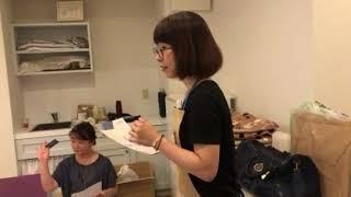 レシピ動画づくりとお料理が断然美味しく撮影できる背景ボードづくりのコラボレッスン大阪お菓子教室ひすなずたさんにて開催