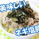 【料理】簡単美味しい!ネギ塩豚丼の作り方!