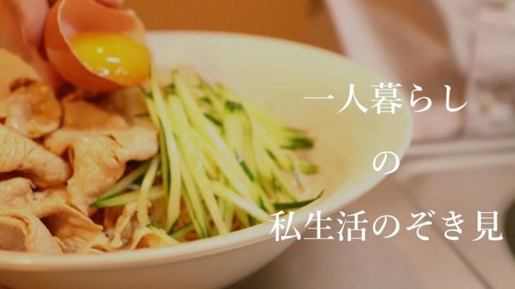 【一人暮らしの晩ごはん】ビビンバ風冷しゃぶそうめん【料理音フェチ】