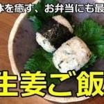 【かんたん・ヘルシー料理】疲れた体に最適!梅生姜ご飯