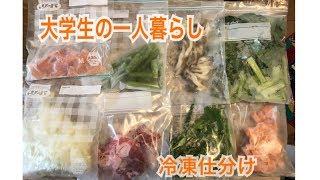 【一人暮らし】食材を冷凍するだけ【大学生】自炊/料理/vlog