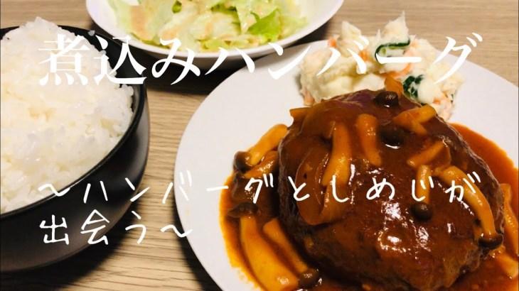 日常vlog【料理】煮込みハンバーグ アラフォー男映えない料理