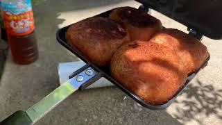 ホットサンドメーカーでカレーパンを焼いてみた!【キャンプ料理】