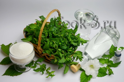 мятный ликер в домашних условиях - ингредиенты