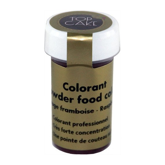 colorant alimentaire poudre rouge framboise hydrosoluble top cake