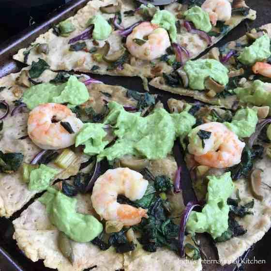 Paleo, AIP Shrimp Pizza