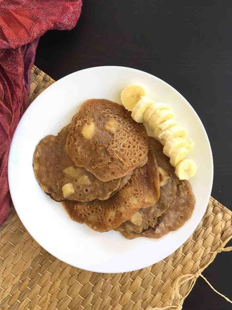 Banana Pancakes || Plantain Pancakes (Gluten free, Paleo, AIP, Vegan)