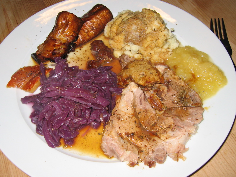 Roast Pork with Red Cabbage