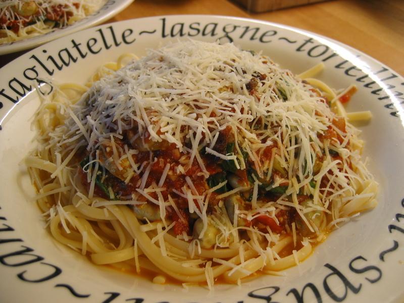 Vegetarian Broad Bean & Tomato Pasta