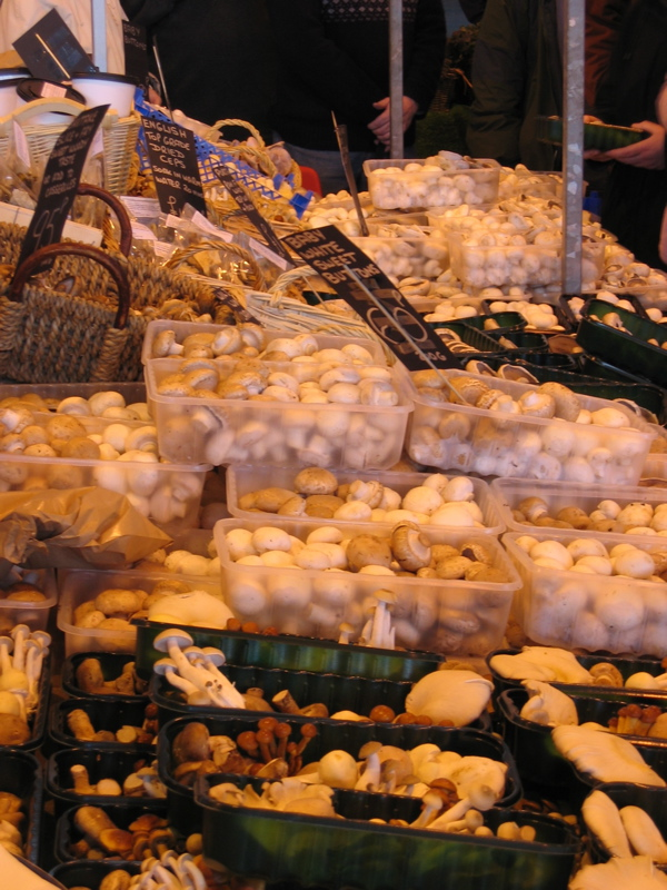 Mushroom Stall at Bakewell Market