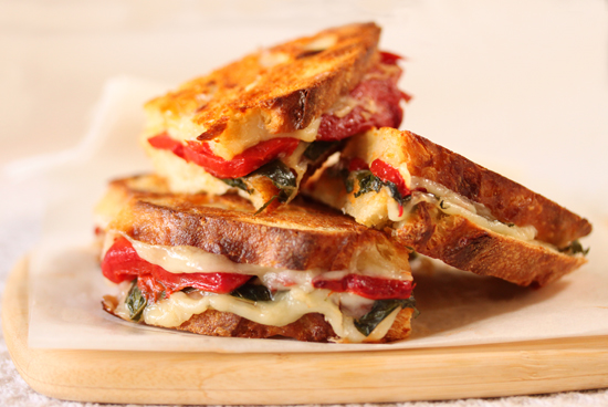 Post image for Roasted Red Pepper & Provolone Sandwiches