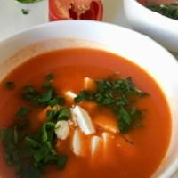 Zupa z pieczonej papryki i dyni