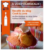 Cook & Love sur Monin Shopping • Muffins Marbrés à la Fraise