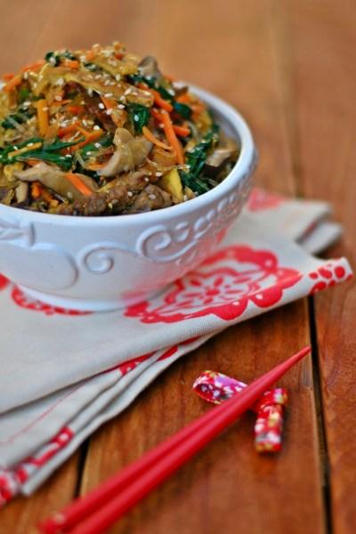 Jap Chae (Stir Fry Noodles)