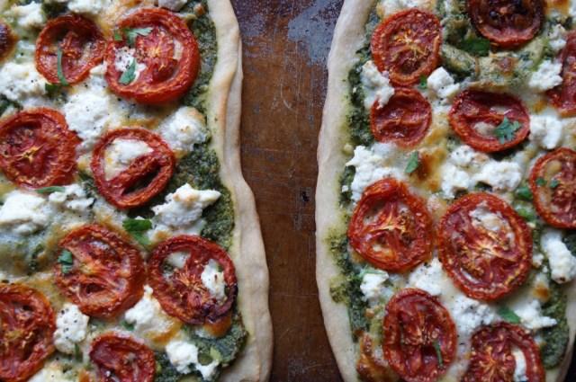Pesto Pizza, finished