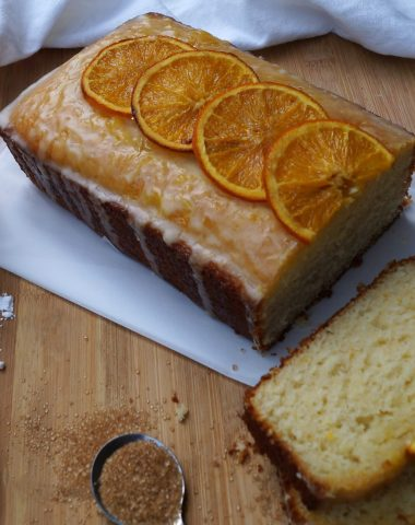 Citrus Ginger Pound Cake with Candied Oranges