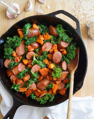 Whole30 & Paleo Sauteed Kielbasa Skillet, finished dish