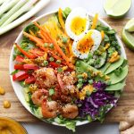 Rainbow Asian Salad Bowls with Shrimp - Whole30