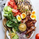 Honey-less mustard grilled chicken platter