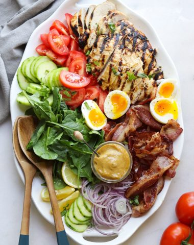 Honey-less mustard grilled chicken platter