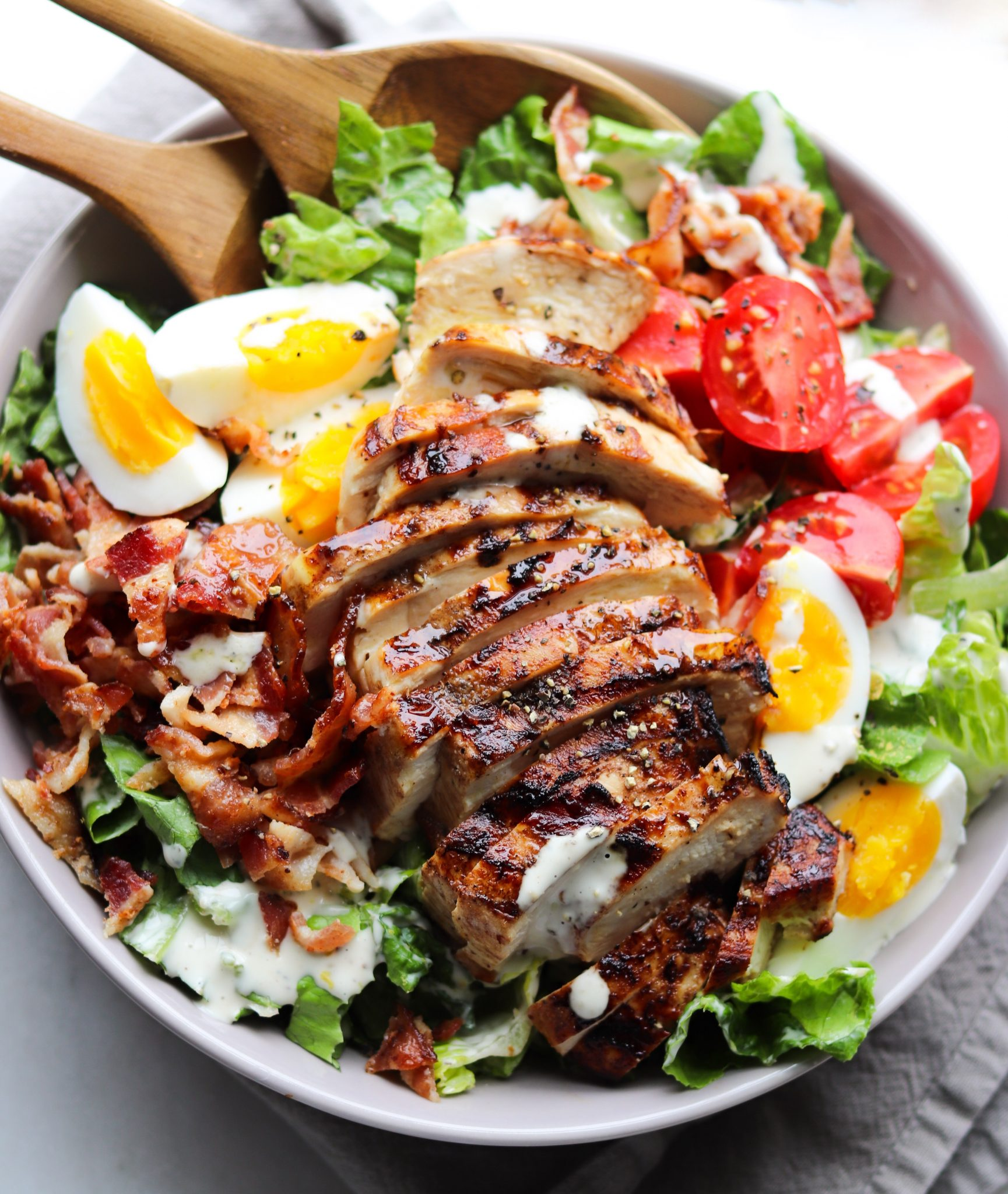 Chicken Bacon Caesar Salad Whole30 Cook At Home Mom